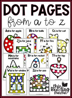 Free Alphabet Dot Pages - This Reading Mama Alphabet Activities, Preschool Alphabet, Alphabet Crafts, Alphabet Letters, Preschool Learning, Learning Activities, Preschool Kindergarten, Teaching Resources, Preschool Printables