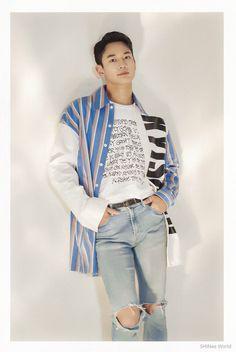 Shinee Minho, Jonghyun, Group Of Five, Choi Min Ho, Kpop Boy, Pop Group, My Idol, Bomber Jacket, Ruffle Blouse