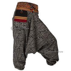 Gypsy-Hippie-Aladdin-Hmong-Baggy-Batik-Harem-Pants-Men-Women-Hammer-Trousers