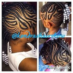 Cornrow Mohawk With Black And Clear Beads Jo Lene Gentle Braids