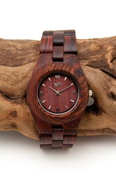 wooden watch, very cool