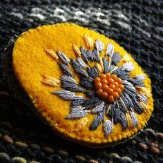 peonyyellow  brooch (sprzedawca: agat.handmade), do kupienia w DecoBazaar.com