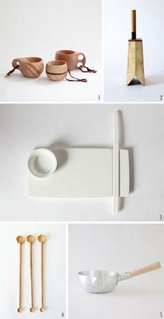 minimal kitchen goods -- I love hand crafted kitchen stuff! Like my cutting board :)