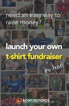 Use this template to send out requests for donations to for Make your own shirt and sell it