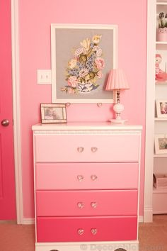 A Dreamy Girl Room Makeover With Hidden Door Bookcase - Decorchick! Grey Bedroom Furniture, White Furniture, Diy Furniture, Furniture Removal, Refurbished Furniture, Furniture Makeover, Hidden Door Bookcase, Girl Dresser, Ideas Habitaciones