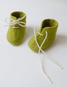 felted baby booties by Patricija, so sweet