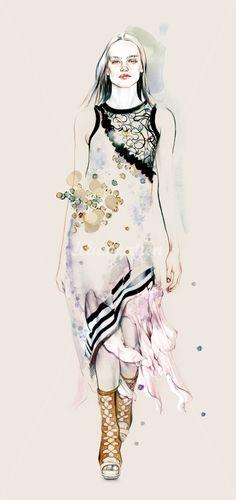 Fashion illustration // Natalia Sanabria