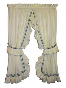 August Grove Hower Country Ruffled Priscilla Curtain Panels Pair Color: Slate, Size: W x L, Rod Pocket Size: Tie Up Curtains, Rod Pocket Curtains, Curtains With Rings, Grommet Curtains, Panel Curtains, Curtain Panels, Blackout Curtains, Valance, Priscilla Curtains