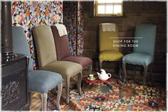 anthropologie. I would put all of these in my dining room surrounding the farmhouse table - multi colored and all! too cute!