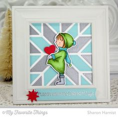 Warmest Wishes stamp set and Die-namics, Blueprints 20 Die-namics, Quilt Square Cover-Up Die-namics - Sharon Harnist #mftstamps