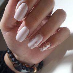 Beautiful white nails, May nails, Nails for spring dress, Spring nail art, Spring nail ideas, Spring nails 2018, White nail art, White nails ideas