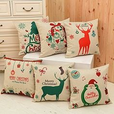 Christmas Decorations Pillow case presinted imag