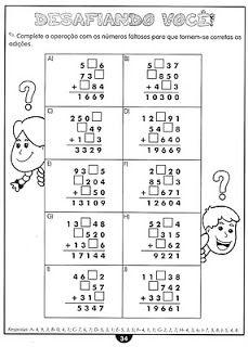 Atividades para imprimir do 3º ao 5º anos sempre a mão: só matemática 3º ao 5ºano Third Grade Math, Cycle 3, Math Worksheets, 3 D, Thing 1, Math Equations, School, Samara, Free Stuff