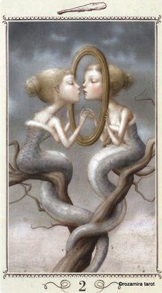 Two of Wands - Nicoletta Ceccoli Tarot by Nicoletta Ceccoli