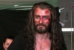 Thorin just looking all good and bloody and dirty and good.