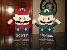 Valentine Boxes for boys... Mario and Luigi