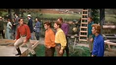 """""""Seven Brides For Seven Brothers"""" - A fight starts at the Barn Dance Funny Movies, Great Movies, Got Married, Getting Married, Barn Dance, Video Site, Movies And Tv Shows, Theater, Movie Tv"""
