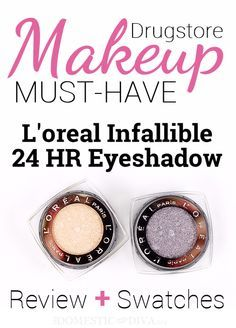 Domestic Diva review of the Infallible 24 Hour Eyeshadows.