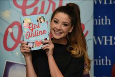Zoella with her new book - Girl Online