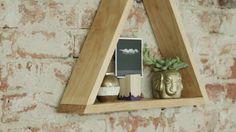 How to Make a Hanging Triangle Shelf