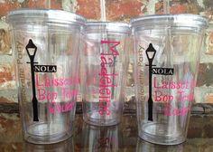 New Orleans Laissez Les Bon Temps Rouler  Bachelorette Party Tumbler Cup 16 ounce - PRIORITY SHIPPING