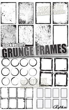 Гранжевые рамки векторный клипарт. Grunge frames Vectors