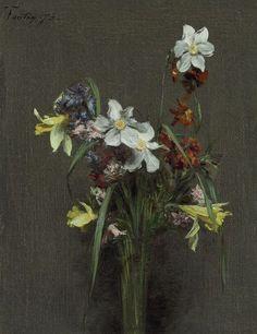 Fleurs de printemps, Henri Fantin-Latour. French (1836 - 1904)