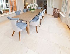 Regency Antiqued Light Stone Flooring