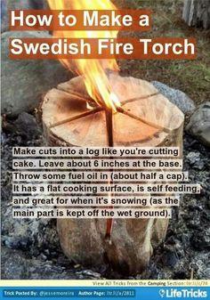 Swedish log fire More