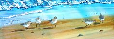 sandpiper art at the beach   sandpipers - idrawandpaint