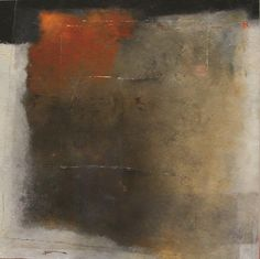 photo Huile sur toile, Trac�s d'Ocre III - 1m x 1m