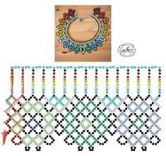 Diy Necklace Patterns, Bead Loom Patterns, Beaded Jewelry Patterns, Beading Patterns, Beading Techniques, Beading Tutorials, Bead Loom Bracelets, Bead Jewellery, Handmade Beads