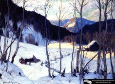 The Clearing In The Woods Artwork By Clarence Gagnon Oil Painting & Art Prints On Canvas For Sale Wood Artwork, Vintage Artwork, Canadian Painters, Canadian Artists, A4 Poster, Poster Prints, Quebec, Clarence Gagnon, Of Montreal