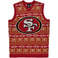 San Francisco 49ers Ugly Sweater Vest