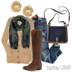 """""""Easy Fall Outfit"""" by taytay-268 on Polyvore"""