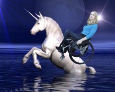 Teal and Her Wheelchair Ride a Unicorn