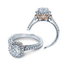 Verragio Couture-0433DR-TT Platinum Engagement Ring About $5,900.00