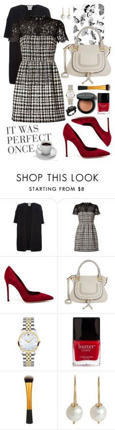 """""""Work-a-holic"""" by memelondon ❤ liked on Polyvore featuring Dries Van Noten, Valentino, Gianvito Rossi, Chloé, Movado, Butter London, Bobbi Brown Cosmetics and Sandra Dini"""