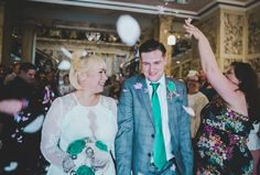 Clare and Adam's 'Informal Vintage' Emerald Green Music Themed Wedding by Rachel Joyce P...