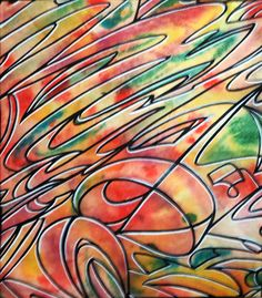 Psychedelic Visionary Urban Trippy Abstract Artwork Watercolor Drawing by HellP Art 2013