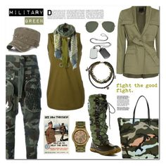 """""""Shades of valor: military green."""" by sinesnsingularities ❤ liked on Polyvore featuring 3.1 Phillip Lim, WeWood, Ray-Ban, Valentino, Faith Connexion, Marissa Webb, Pajar, Gogreen and contestentry"""