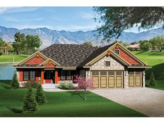 Ranch House Plan with 1884 Square Feet and 3 Bedrooms from Dream Home Source | House Plan Code DHSW075808