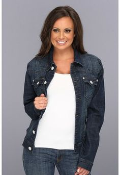 calvin klein dark wash jean jacket women - Google Search