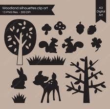 woodland squirrel silhouette