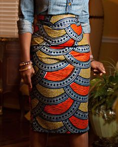 Stylish High-Waisted Printed Bodycon Skirt For Women