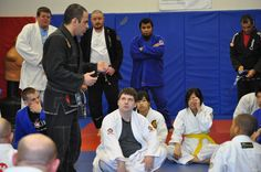 Gustavo explains in detail BJJ techniques during a recent seminar at Pendergrass Academy of Martial Arts.