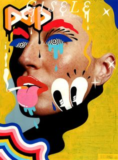 Collage Portrait, Pop Art Portraits, Collage Art, Pop Magazine, Magazine Collage, Photo Illustration, Digital Illustration, Mode Pop, Pop Art Tattoos