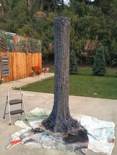 DIY Fake Tree : Tree Prop : DAVE LOWE DESIGN the Blog: Tap-able Tree for Tanya