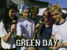 Green Day being interviewed by Donita and Jennifer from L7, 1994