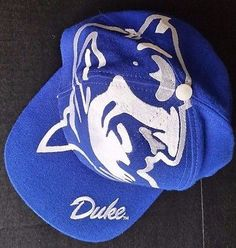 Duke Blue Devils The Game Big Logo Vintage Snapback Hat Jumbo NCAA Cap RARE Logo Vintage, Duke Blue Devils, Snapback Hats, Nhl, Old School, Game, Logos, Products, Caps Hats